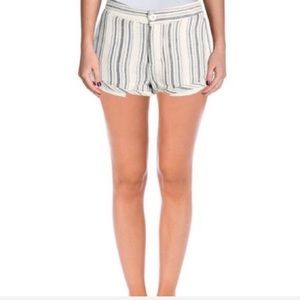 FREE PEOPLE Womens Striped Cotton Casual Shorts